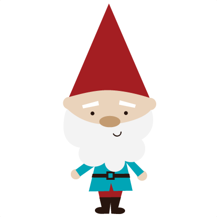 Kissing gnomes . Gnome clipart