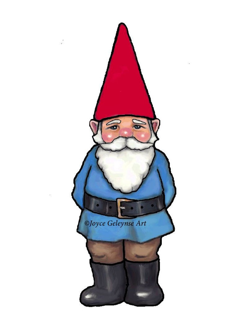 Hand drawn commercial use. Gnome clipart