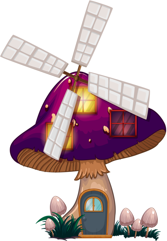 Mushrooms clipart fairy mushroom.  png house and