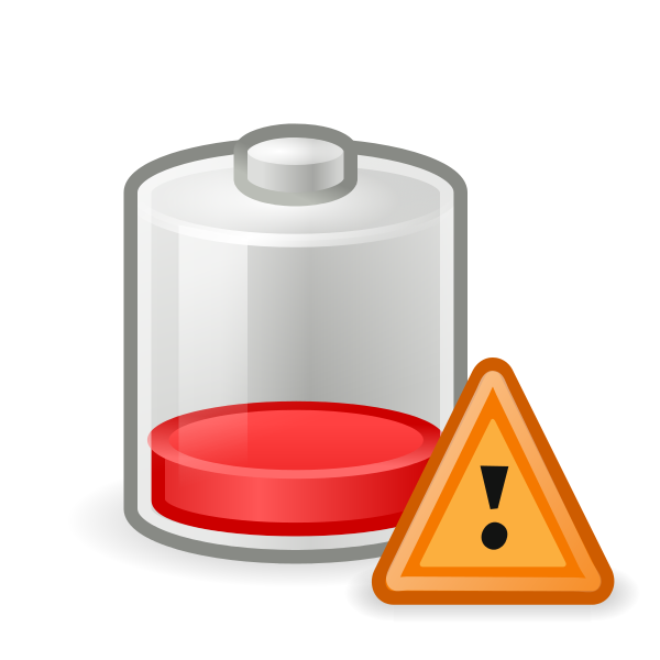 Gnome clipart mining. File battery caution svg