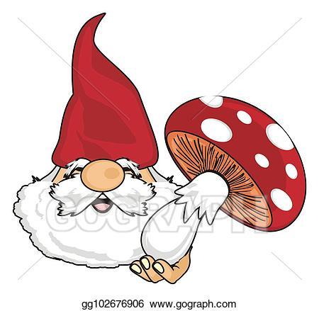 Gnome clipart mushroom. Clip art head of