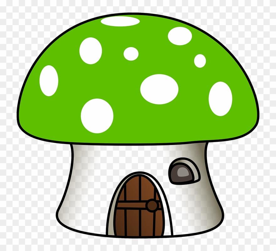 . Mushrooms clipart mushroom house