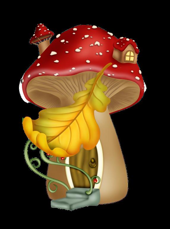 Pin by kimberly mecir. Mushrooms clipart fairy village