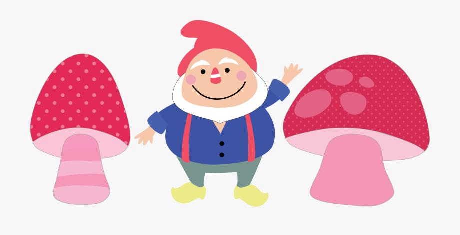 Gnome clipart mushroom. Woodland garden