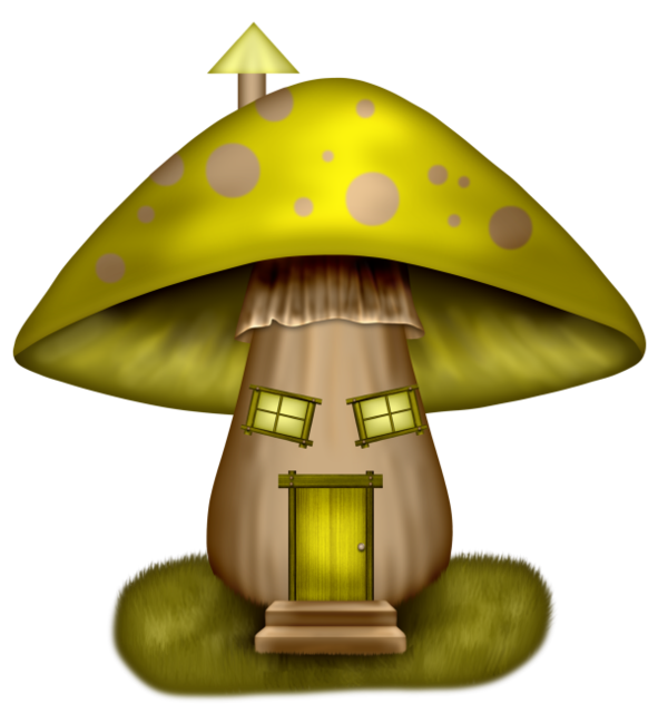 Champignons png tubes fadas. Gnome clipart psychedelic mushroom
