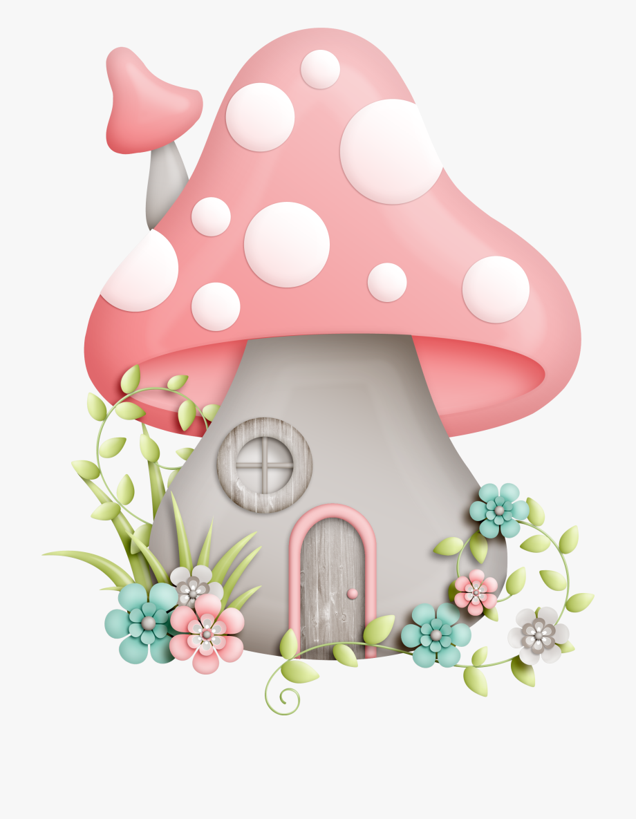 Gnome clipart psychedelic mushroom. Enchanted pink house