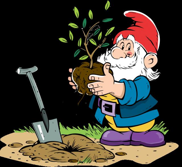 Pin by viktoria gruzd. Gnome clipart simple garden