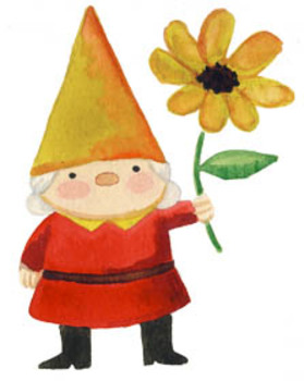 Clip art and name. Gnome clipart
