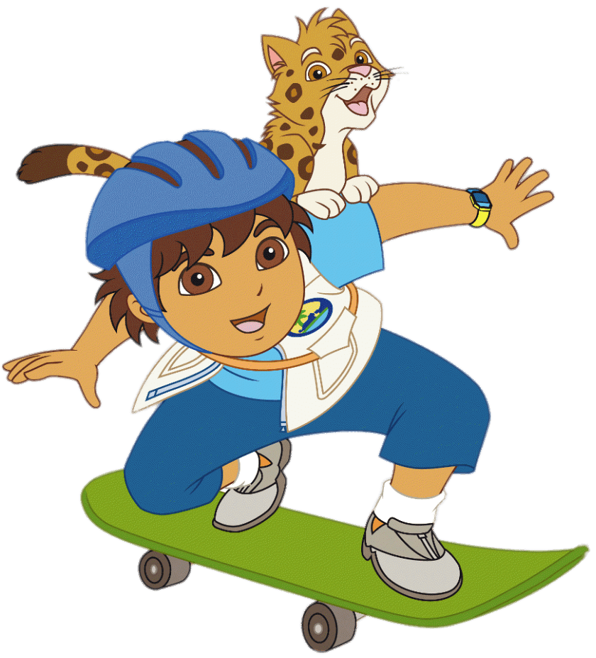Diego on skateboard transparent. Young clipart scateboard