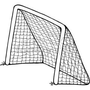 Royalty free soccer vector. Goal clipart