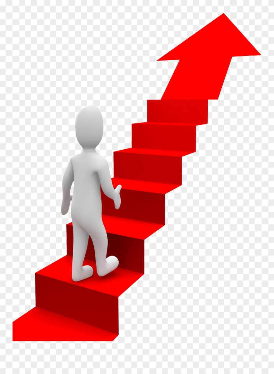 Goal stair in life. Goals clipart red