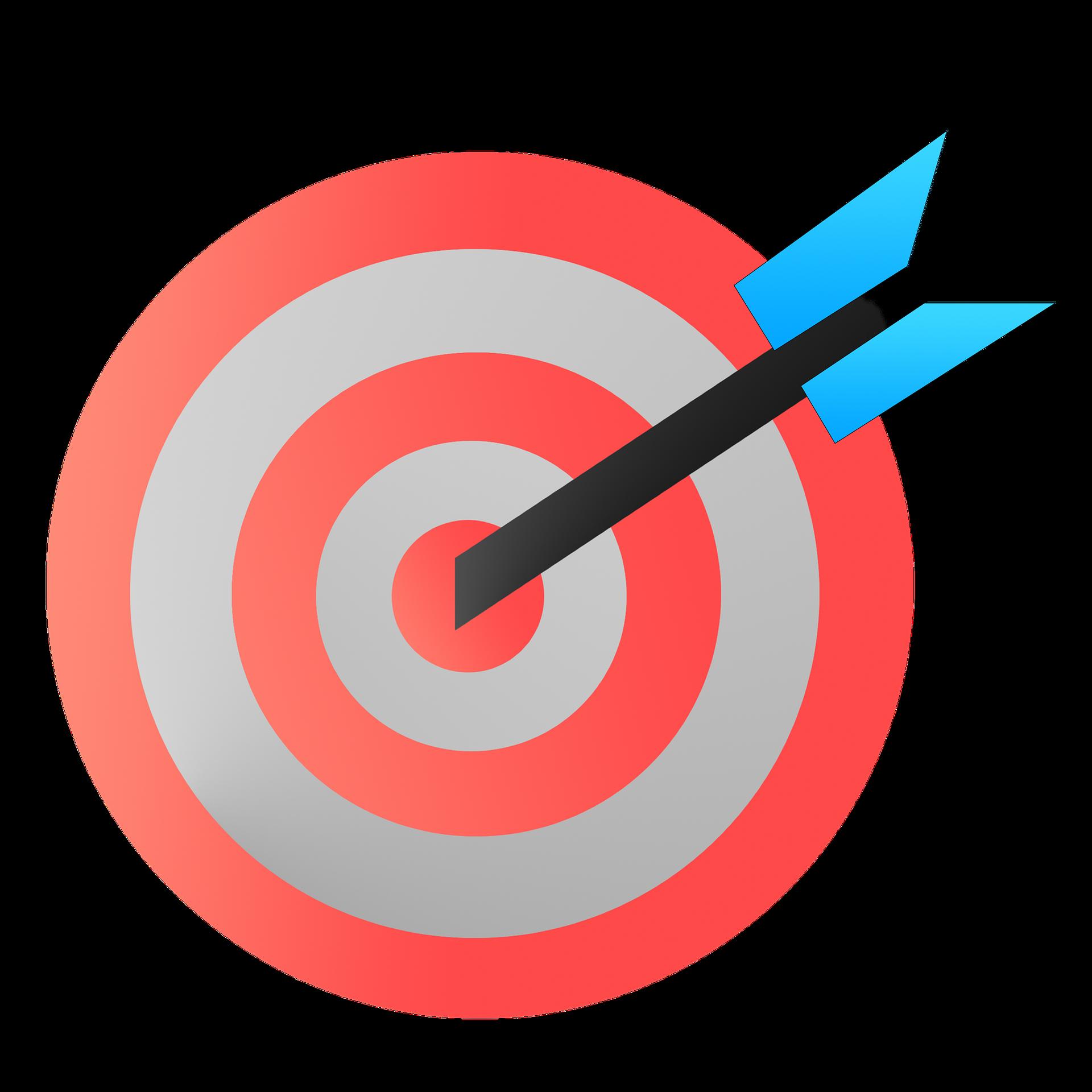 Goal clipart accuracy. And precision clip art