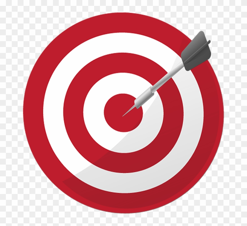 Target dart aim success. Goal clipart accuracy