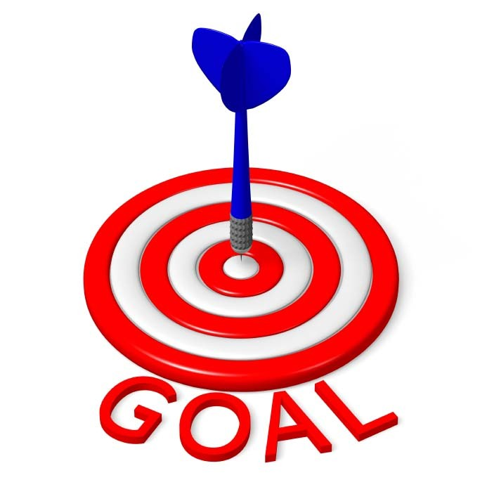 Is needed for achievement. Motivation clipart goal target