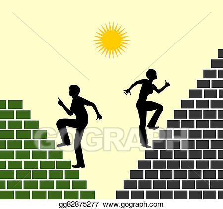 Goals clipart ambitious. Stock illustration gender differences