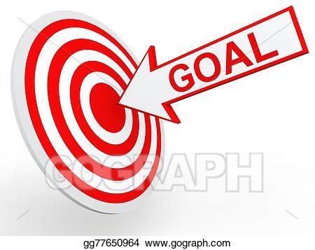 Drawing d goal on. Goals clipart arrow