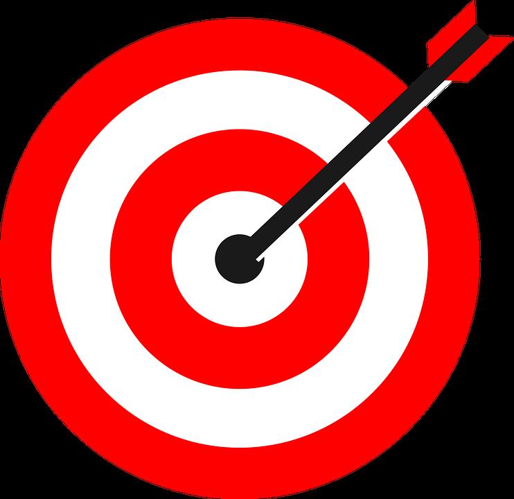 Free png target transparent. Goals clipart bullseye