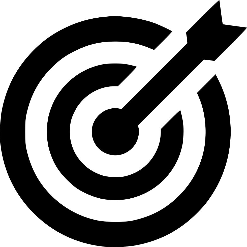 Target success goal archery. Goals clipart bullseye
