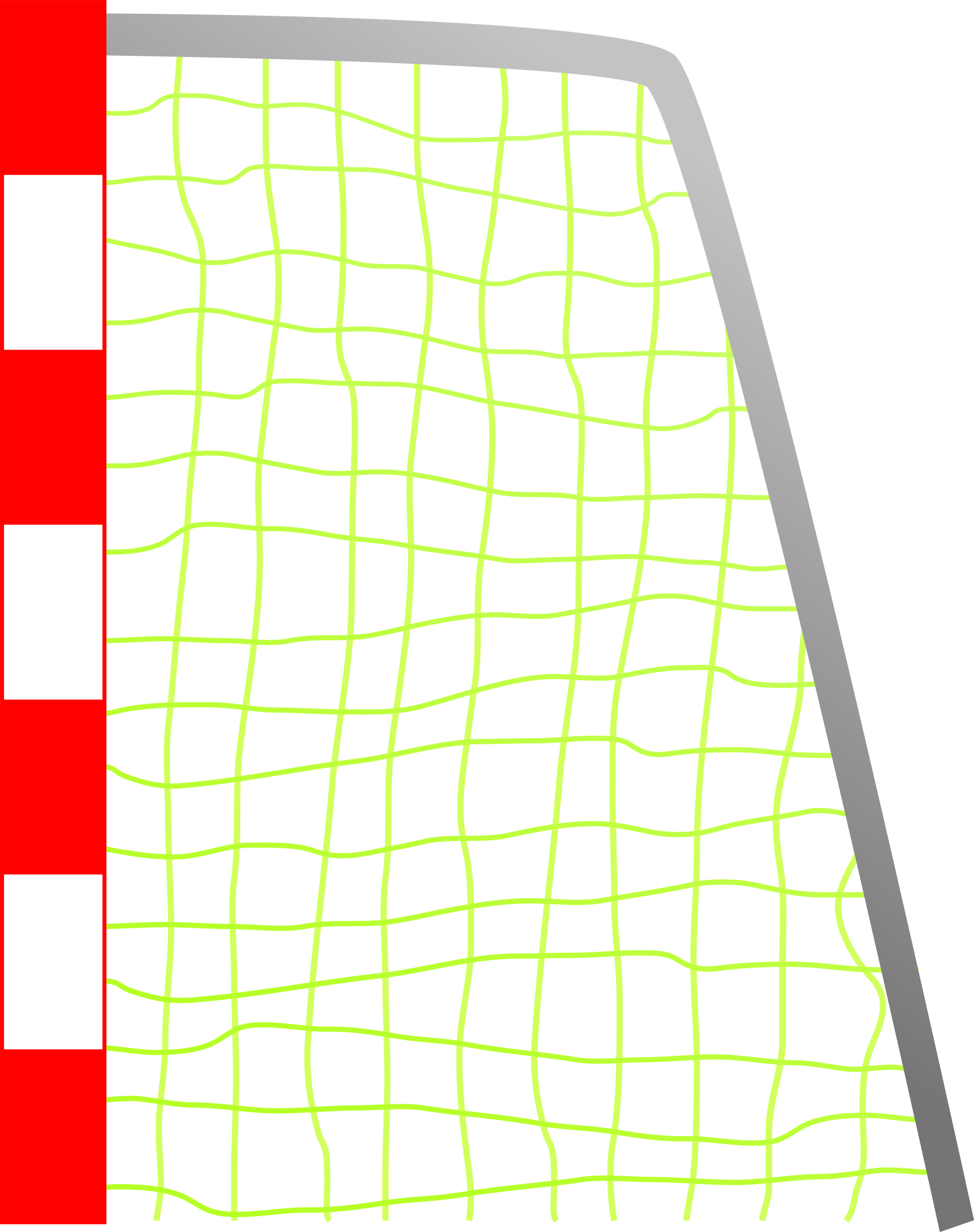 Goals clipart medium. Soccer net goal