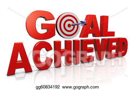 Goals clipart acheivement. Stock illustrations achieving and