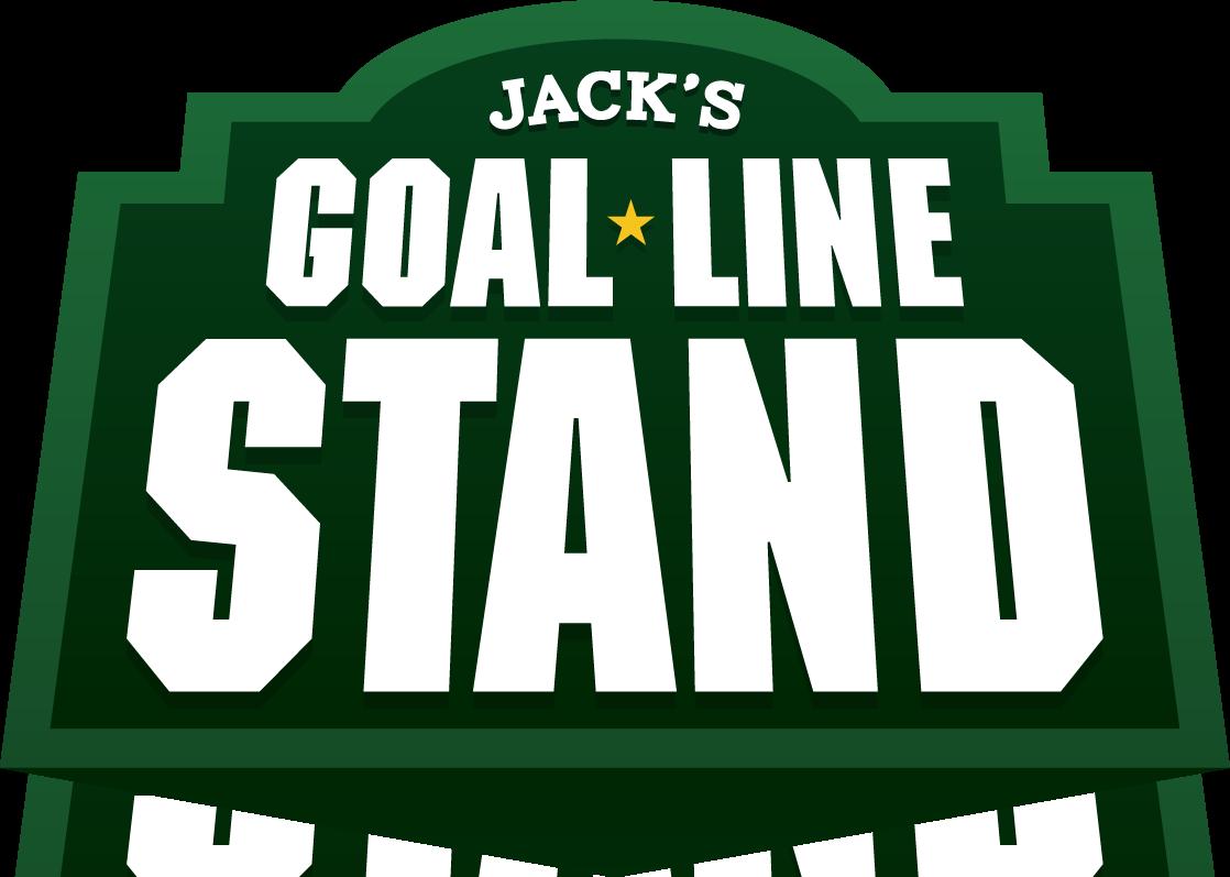 Jacks stand unbroken warriors. Goal clipart goal line