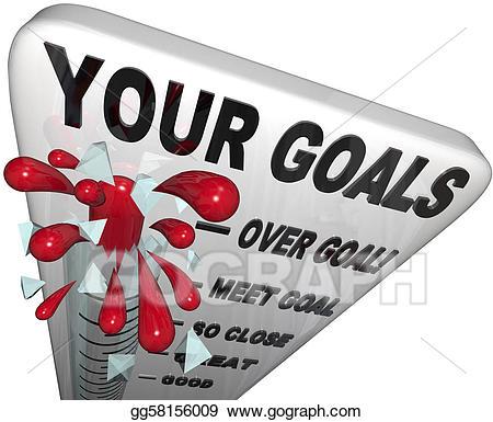 Goal clipart goal met. Stock illustrations your goals