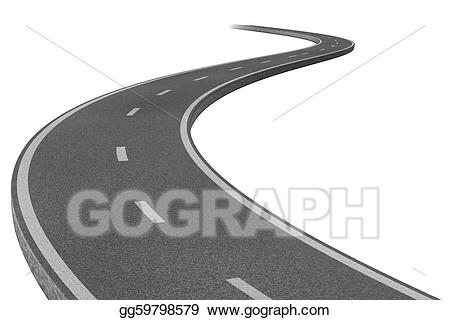 Drawing highway to a. Goals clipart journey road
