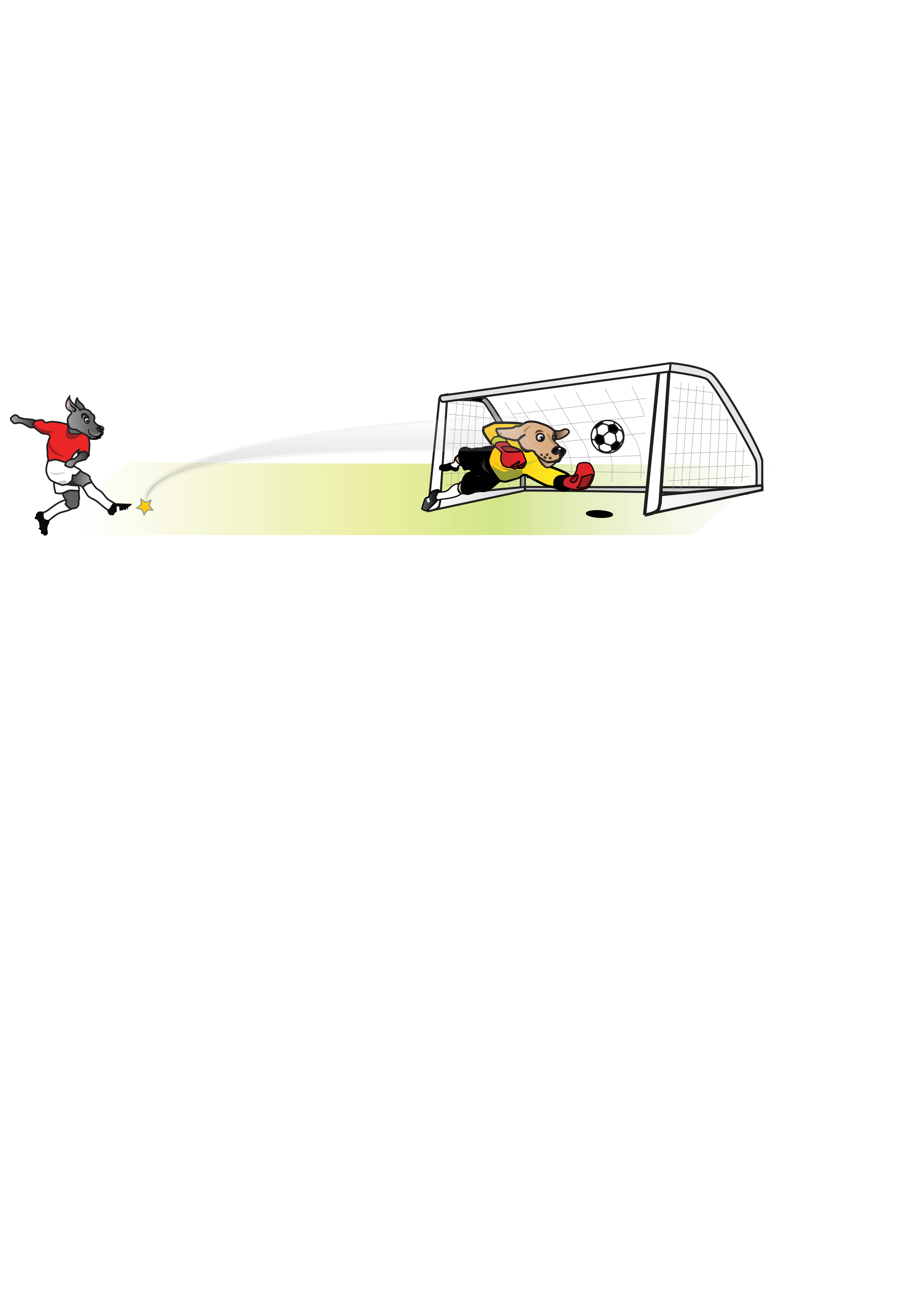 Goals clipart medium. Soccer dog striker kicking