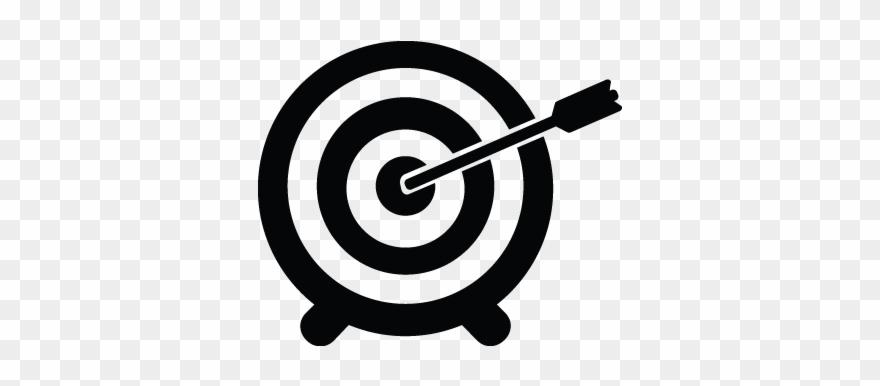 Goals clipart arrow. Aim direction goal mission
