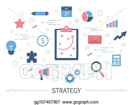 Vector art business and. Goal clipart organizational plan