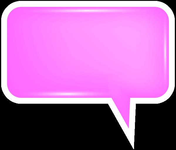 Bubble speech png transparent. Square clipart pink square