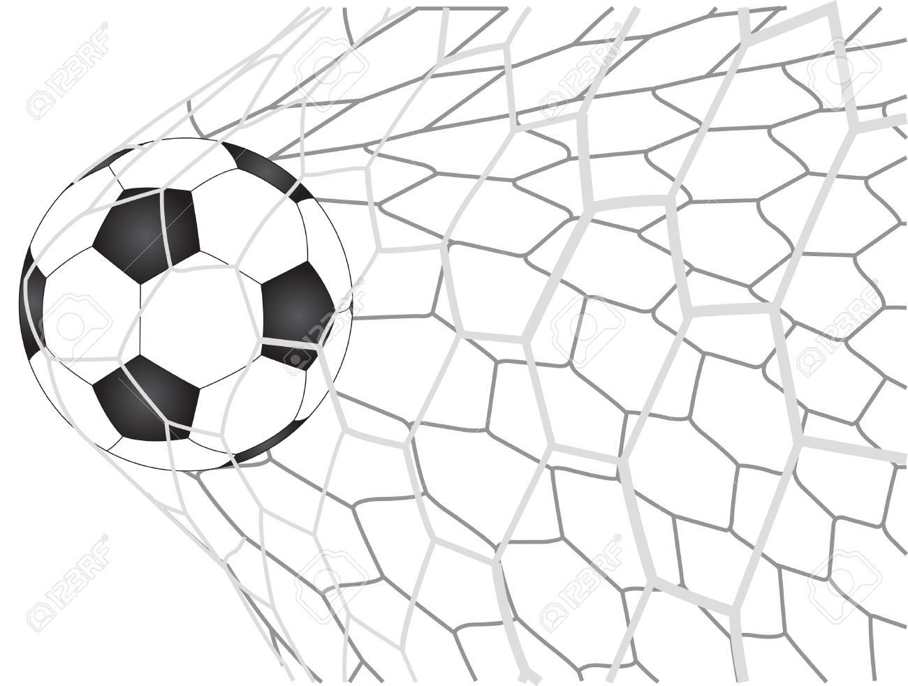 Net stuff ball . Goal clipart soccer game