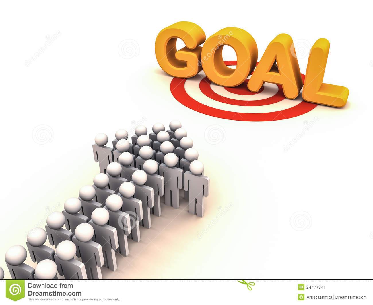. Goal clipart team goal