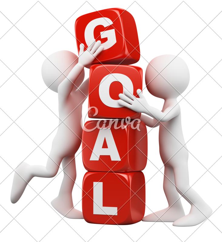 d white people. Goal clipart team goal