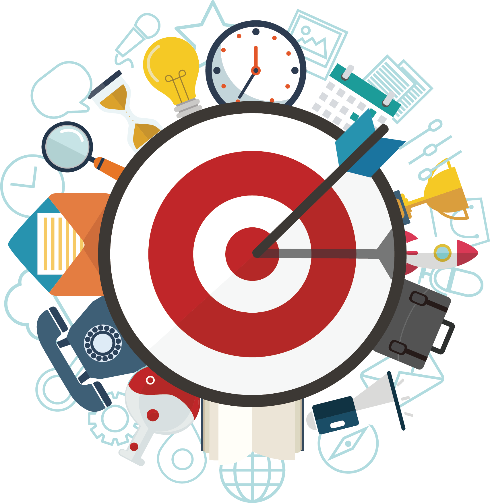 Missions clipart industry profile. Vision mission digital icon