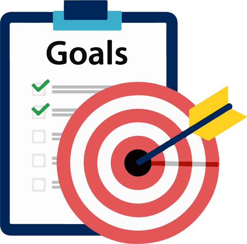 Goals clipart business goal. New year for