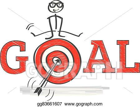 Vector reach illustration gg. Goals clipart cartoon