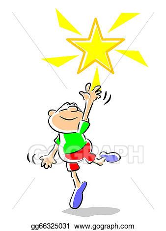 Vector illustration star boy. Goals clipart child