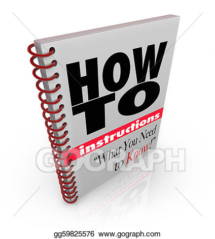 Goals clipart know yourself. Stock illustration instruction book