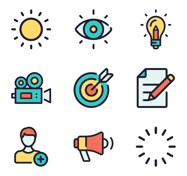 Goals clipart long term goal. Objective icons free vector