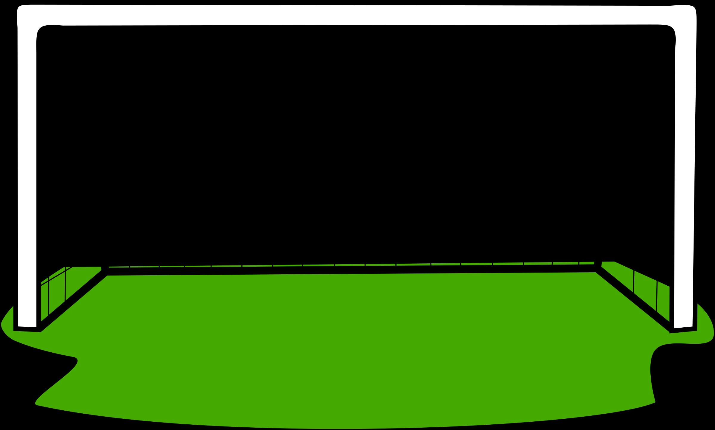 Goal with grass big. Goals clipart medium