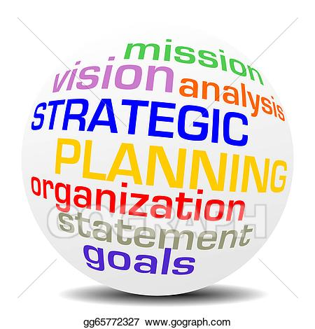 Missions clipart strategic. Stock illustration planning word