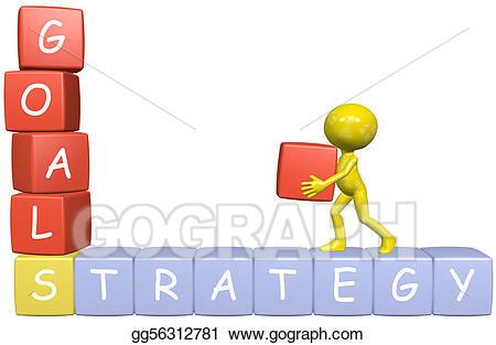 Goals clipart strategy. Drawing d cartoon man