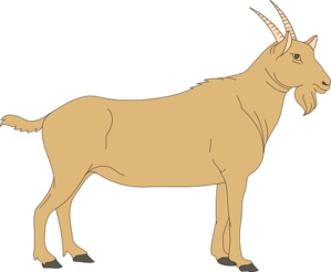 Brown clip art at. Goat clipart