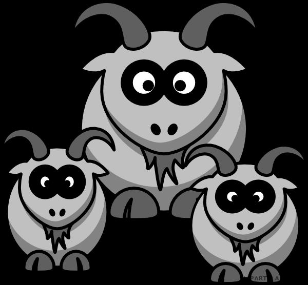 Baby animal free black. Goat clipart 3 goat