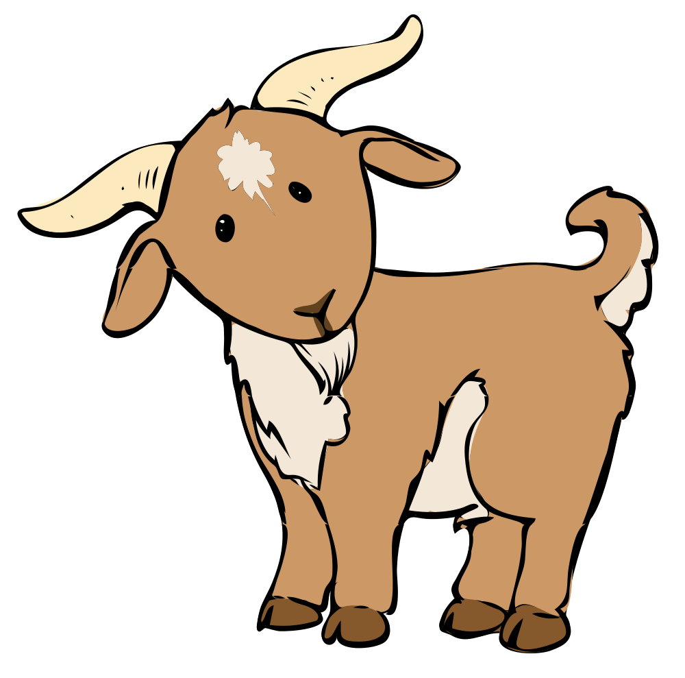 Number 1 clipart animal shape. Share these goat coloring