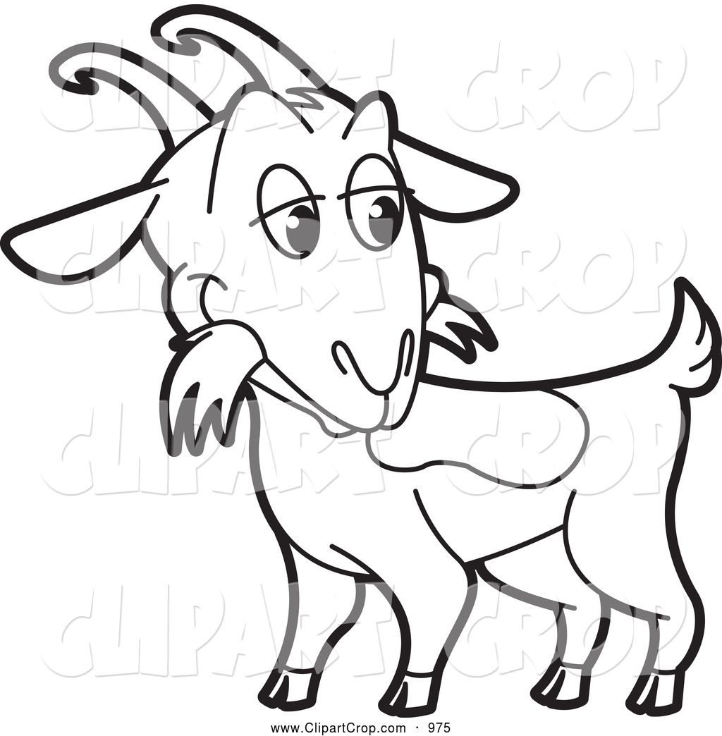 Images panda free . Goat clipart black and white