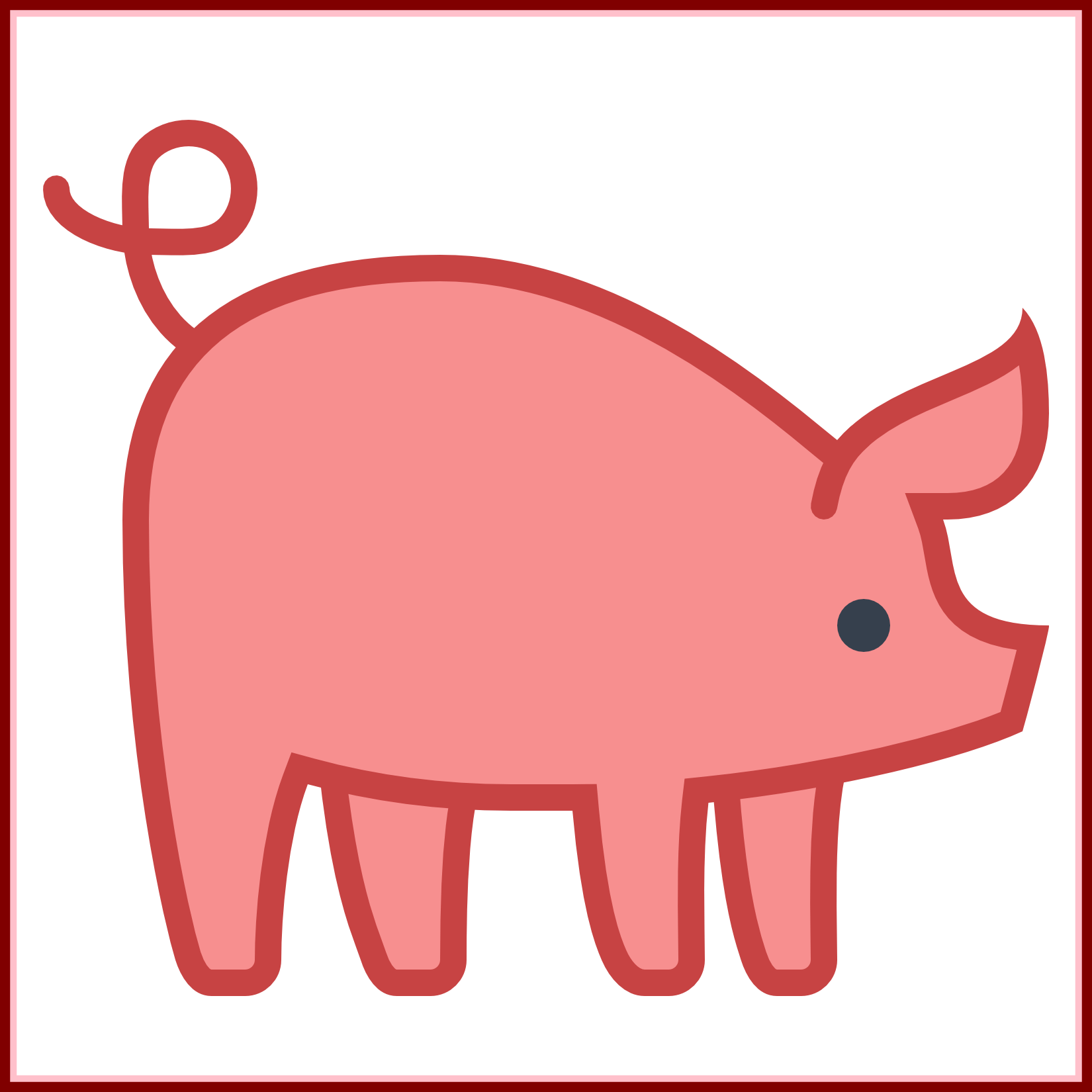 Goat clipart boar. Wire pig outline center