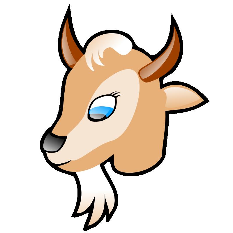 Goat clipart coloring page. Clip art cliparts co