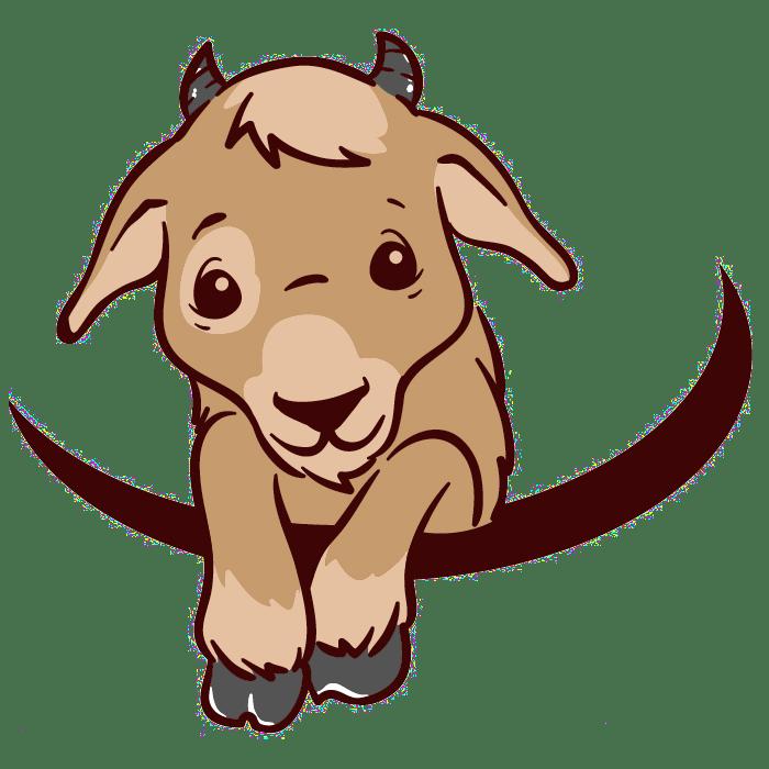 Only logo transparent baby. Goat clipart colour
